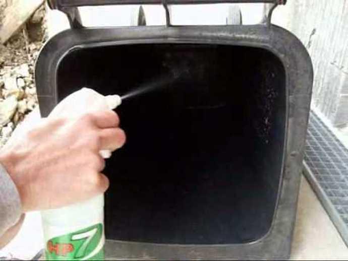 vidage et nettoyage des poubelles